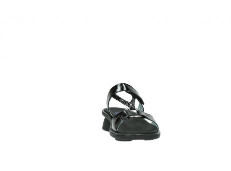 wolky slippers 3307 isa 600 zwart lakleer_18