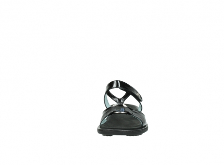 wolky slippers 3307 isa 600 zwart lakleer_19