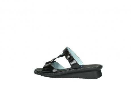 wolky slippers 3307 isa 600 zwart lakleer_2