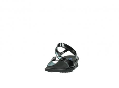 wolky slippers 3307 isa 600 zwart lakleer_20
