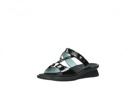 wolky slippers 3307 isa 600 zwart lakleer_22