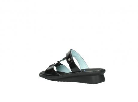 wolky slippers 3307 isa 600 zwart lakleer_3