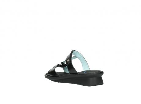 wolky slippers 3307 isa 600 zwart lakleer_4