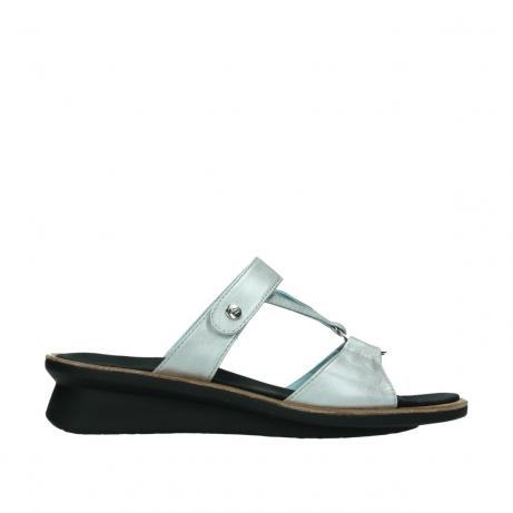 wolky slippers 3307 isa 919 parelwit metallic leer