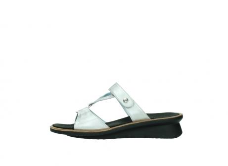 wolky slippers 3307 isa 919 parelwit metallic leer_1