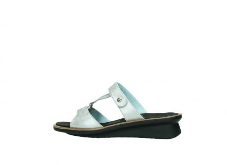 wolky slippers 3307 isa 919 parelwit metallic leer_2