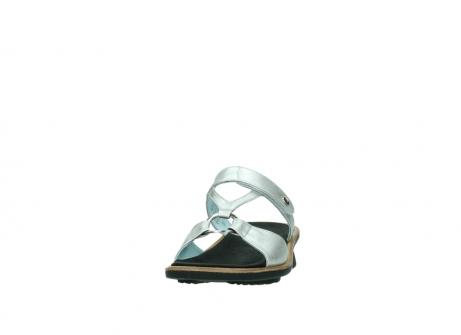 wolky slippers 3307 isa 919 parelwit metallic leer_20