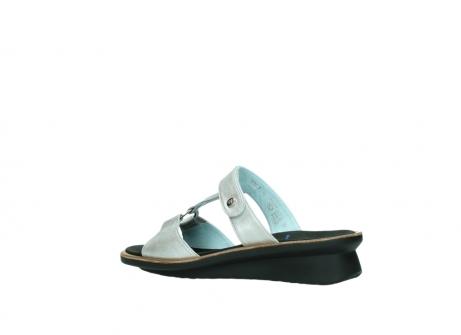 wolky slippers 3307 isa 919 parelwit metallic leer_3