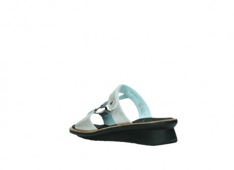 wolky slippers 3307 isa 919 parelwit metallic leer_4