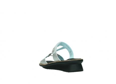 wolky slippers 3307 isa 919 parelwit metallic leer_5