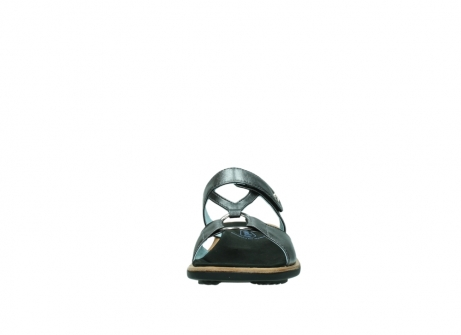 wolky pantoletten 3307 isa 928 grau metallic leder_19