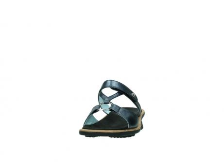 wolky pantoletten 3307 isa 980 blau metallic leder_20