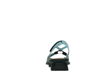 wolky pantoletten 3307 isa 980 blau metallic leder_7
