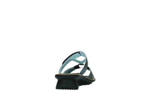 wolky pantoletten 3307 isa 980 blau metallic leder_8
