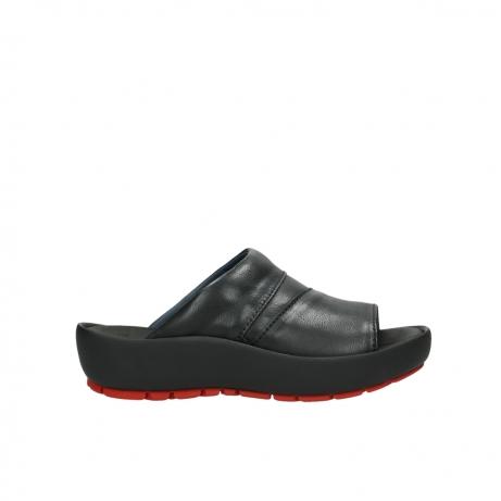 wolky slippers 3326 havana 200 zwart leer