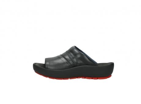 wolky slippers 3326 havana 200 zwart leer_1
