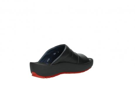 wolky slippers 3326 havana 200 zwart leer_10