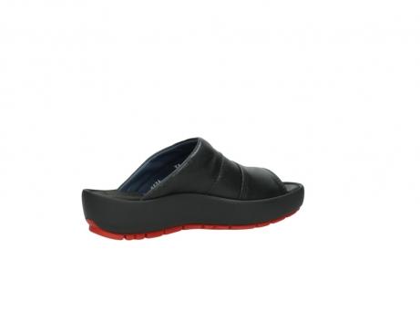 wolky slippers 3326 havana 200 zwart leer_11