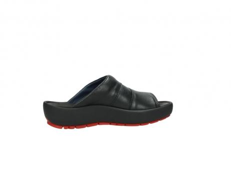 wolky slippers 3326 havana 200 zwart leer_12
