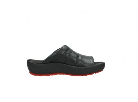 wolky slippers 3326 havana 200 zwart leer_13