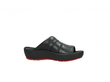 wolky slippers 3326 havana 200 zwart leer_14