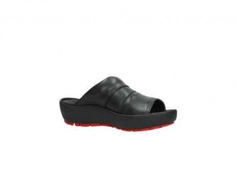 wolky slippers 3326 havana 200 zwart leer_15