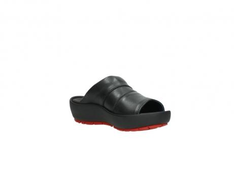 wolky slippers 3326 havana 200 zwart leer_16