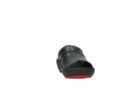 wolky slippers 3326 havana 200 zwart leer_18