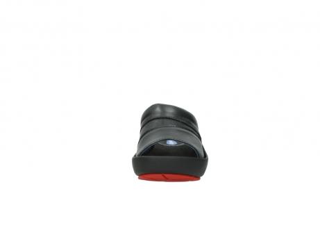 wolky slippers 3326 havana 200 zwart leer_19