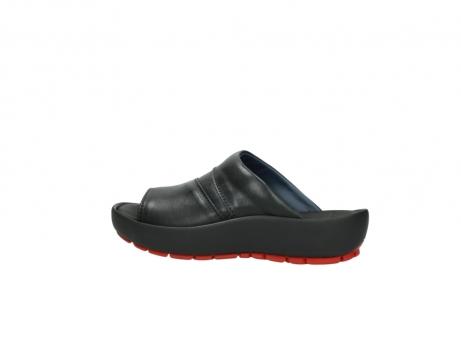 wolky slippers 3326 havana 200 zwart leer_2