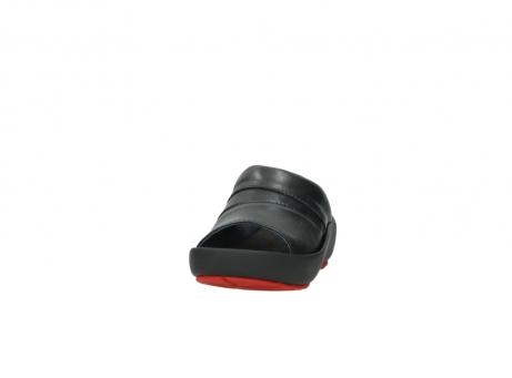 wolky slippers 3326 havana 200 zwart leer_20