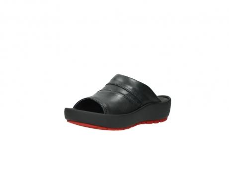 wolky slippers 3326 havana 200 zwart leer_22