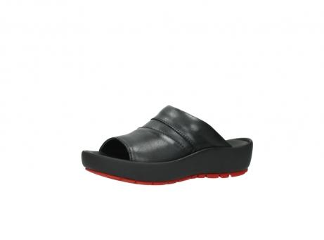 wolky slippers 3326 havana 200 zwart leer_23