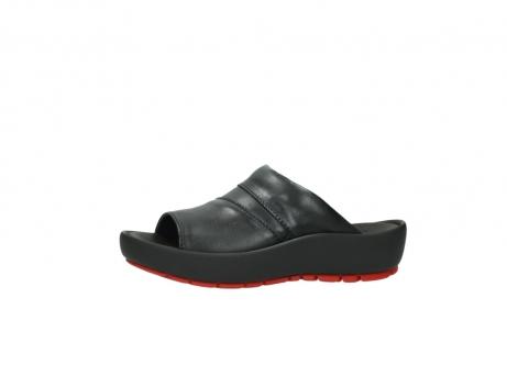 wolky slippers 3326 havana 200 zwart leer_24