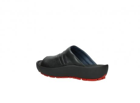 wolky slippers 3326 havana 200 zwart leer_3