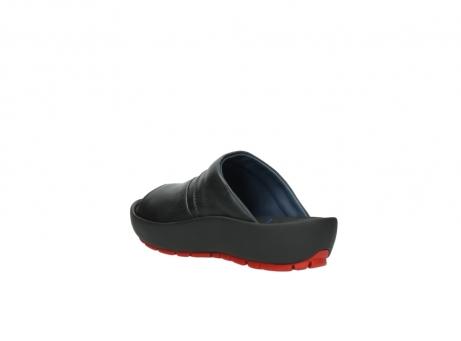 wolky slippers 3326 havana 200 zwart leer_4