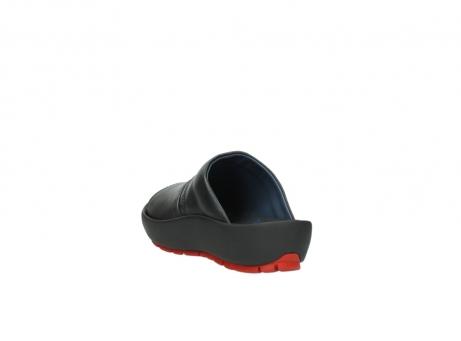 wolky slippers 3326 havana 200 zwart leer_5