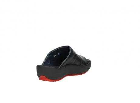wolky slippers 3326 havana 200 zwart leer_9