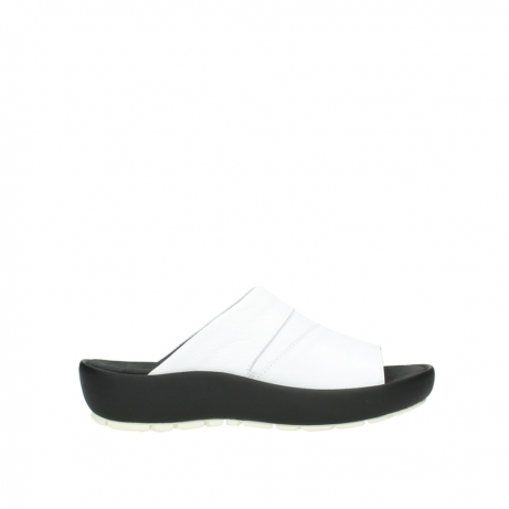 wolky slippers 3326 havana 210 wit leer