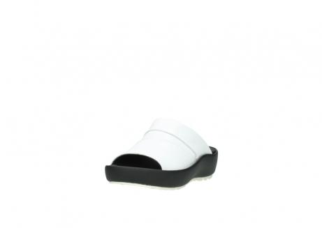 wolky slippers 3326 havana 210 wit leer_21