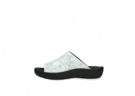 wolky slippers 3326 havana 711 wit zwart canal leer_1
