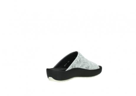 wolky slippers 3326 havana 711 wit zwart canal leer_10
