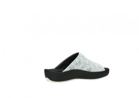 wolky slippers 3326 havana 711 wit zwart canal leer_11