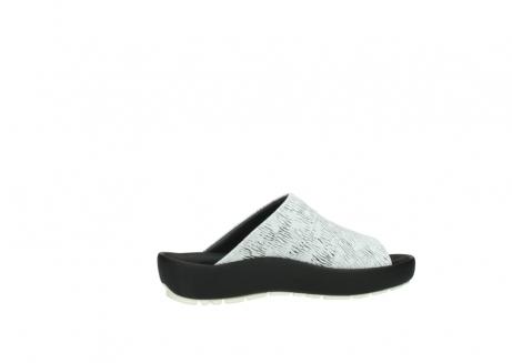 wolky slippers 3326 havana 711 wit zwart canal leer_12
