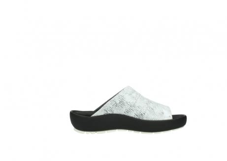 wolky slippers 3326 havana 711 wit zwart canal leer_13