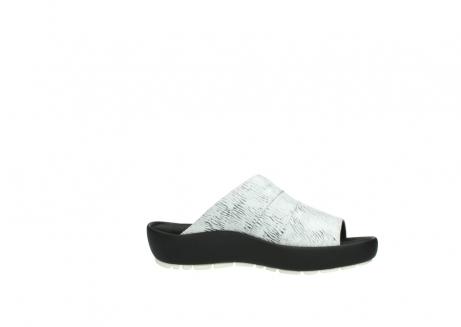 wolky slippers 3326 havana 711 wit zwart canal leer_14