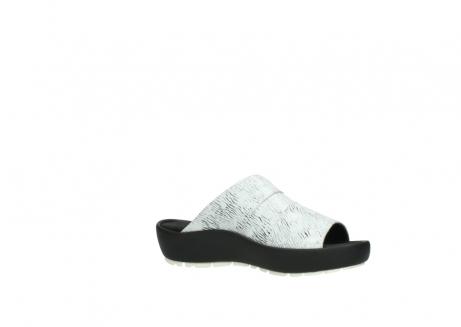 wolky slippers 3326 havana 711 wit zwart canal leer_15