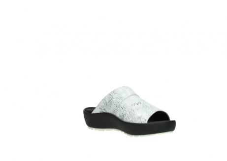 wolky slippers 3326 havana 711 wit zwart canal leer_16