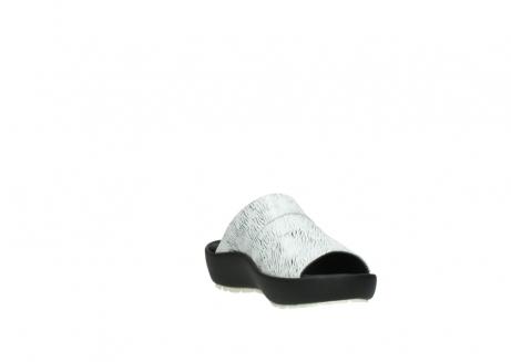 wolky slippers 3326 havana 711 wit zwart canal leer_17