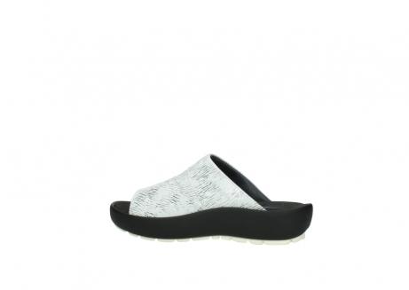 wolky slippers 3326 havana 711 wit zwart canal leer_2